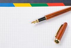 crayon lecteur de cahier d'encre Photographie stock libre de droits