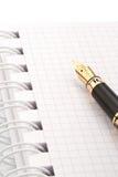 crayon lecteur de cahier de fontaine Photo stock