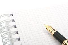 crayon lecteur de cahier de fontaine Photographie stock libre de droits