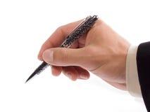 Crayon lecteur de fixation de main Photographie stock libre de droits
