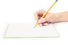 crayon lecteur de main Photo stock