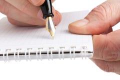 crayon lecteur de main Photos libres de droits