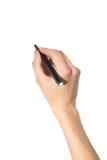 crayon lecteur de main Photographie stock libre de droits