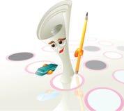 Crayon lecteur de papier de jeu Images stock