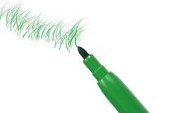 Crayon lecteur de repère vert images stock