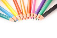 Crayon lecteur en bois Photographie stock