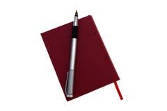 Crayon lecteur et agenda Photographie stock libre de droits