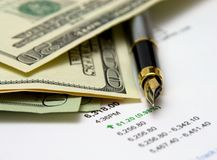 Crayon lecteur et argent Image stock