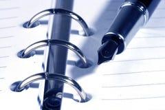 Crayon lecteur et bloc-notes Image libre de droits