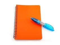 Crayon lecteur et bloc-notes Photo libre de droits