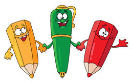 Crayon lecteur et crayons Illustration Stock