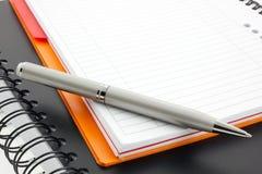 Crayon lecteur et deux cahiers de papier Photographie stock libre de droits