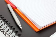 Crayon lecteur et deux cahiers de papier Image libre de droits