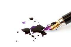 Crayon lecteur et gouttes image stock