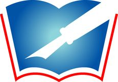 Crayon lecteur et livre Photo stock