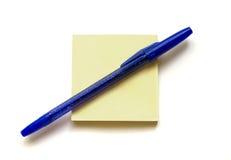 Crayon lecteur et note Image stock
