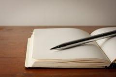 Crayon lecteur et papier Photo stock