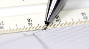 Crayon lecteur et papier 2 Photographie stock libre de droits