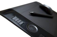 Crayon lecteur et souris de tablette photo libre de droits