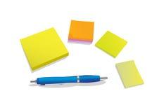 Crayon lecteur et stickies illustration stock