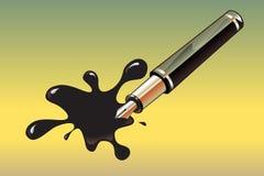Crayon lecteur et tache illustration libre de droits