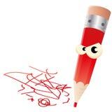 Crayon lecteur fâché illustration stock