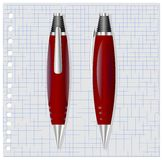 Crayon lecteur rouge photographie stock