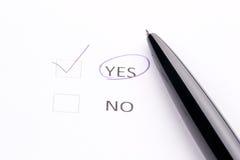 Crayon lecteur sur la liste de contrôle Photos libres de droits