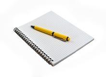 Crayon lecteur sur le cahier Photo stock