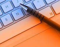 Crayon lecteur sur le clavier Image libre de droits