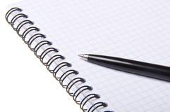 Crayon lecteur sur le copybook photographie stock libre de droits