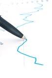 Crayon lecteur sur le graphique Photographie stock