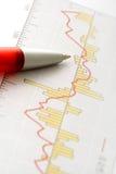 Crayon lecteur sur le graphique Image stock