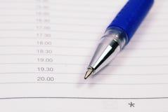 Crayon lecteur sur le planificateur Images libres de droits