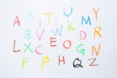 Crayon Letters Royalty Free Stock Image