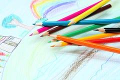 Crayon. Limitless imagination Royalty Free Stock Photos