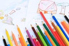 Crayon. Limitless imagination Royalty Free Stock Photography