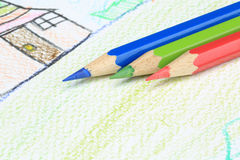 Crayon. Limitless imagination Royalty Free Stock Images