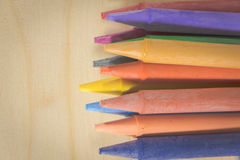 Crayon ,many colorful Royalty Free Stock Photos