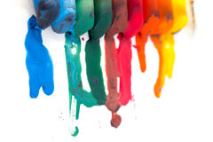 Crayon melted art Royalty Free Stock Photography
