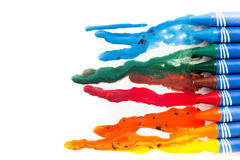 Crayon melted art Stock Images
