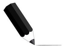 Crayon noir illustration stock