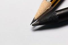 Crayon noir et pencil-2 jaune Image libre de droits