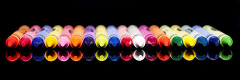 Crayon Panorama Royalty Free Stock Image