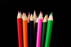 Crayon. Pastel colors on a black background Royalty Free Stock Image