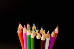Crayon. Pastel colors on a black background Royalty Free Stock Images