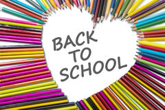 Crayon pencils with Back to School word Royalty Free Stock Photo