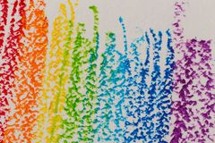 Crayon rainbow background Royalty Free Stock Photography