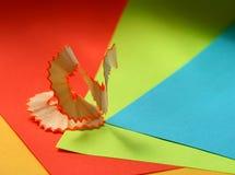 Crayon rasant sur le papier Photographie stock