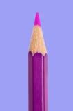Crayon rose pointu Images libres de droits